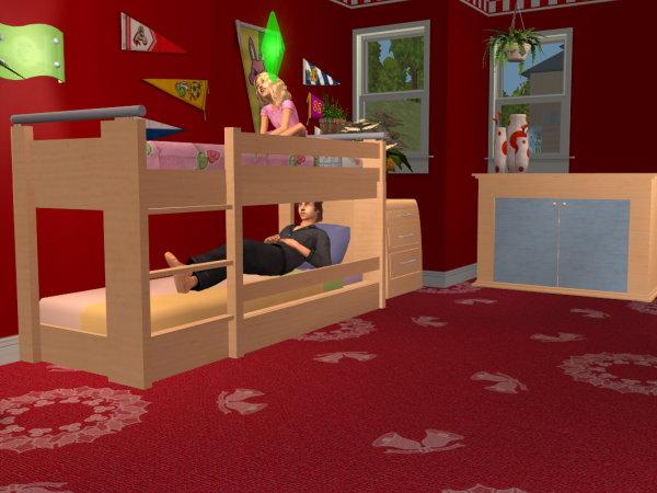 Dass Zwei Sims Im Etagenbett Schlafen Bzw Ein Sim Das Bett Zum Und Umziehen Nutzen Kann Zusammenstellen Den Cheat Moveobjects On